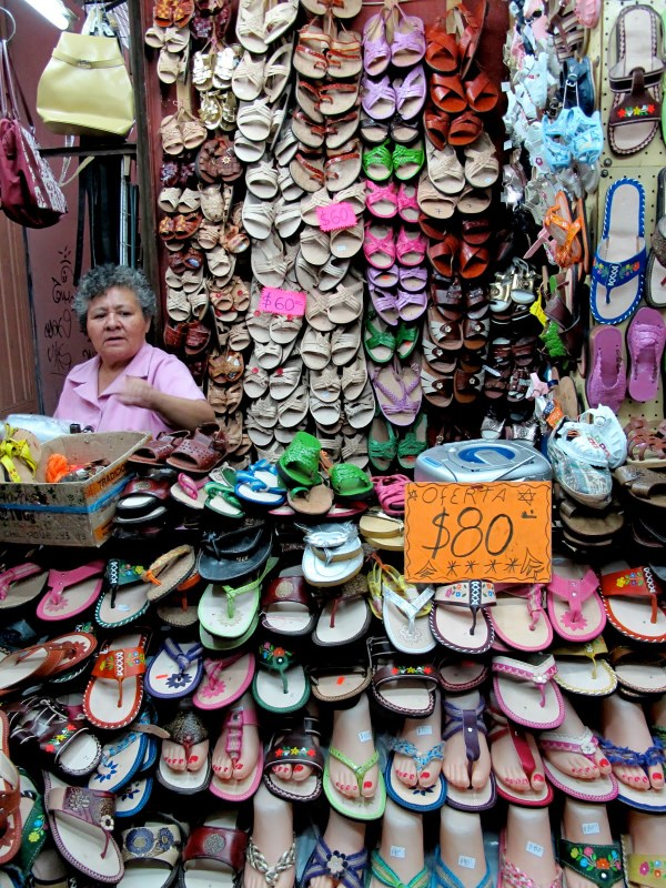 Shoes point on Oaxaca Market